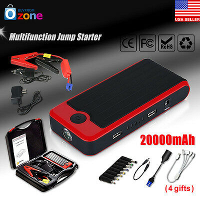 20000mAh Auto Jump Starter Car Emergency Charger Booster Power Bank Battery NEW