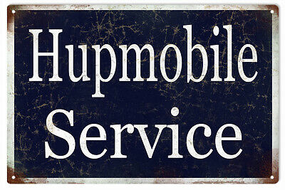 Hupmobile Service Station Gas And Motor Oil Sign
