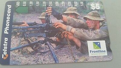 $5 1hole phonecard  Frontline  Gunners  prefix 1154