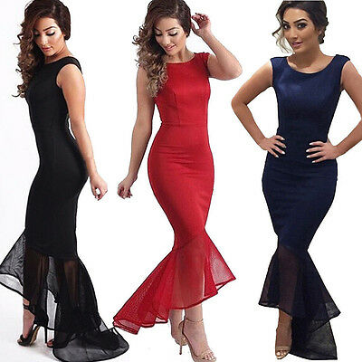 Women Long Mermaid Formal Gown Prom Dress Cocktail Party Ball Gown Evening Dress