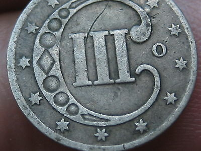 1851-O Three 3 Cent Silver Piece- VG/Fine Details- Rare