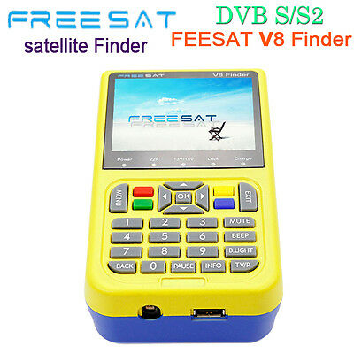 Freesat V8 DVB-S2 High Definition Tv Satellite Finder MPEG-4 3.5inch LCD Display
