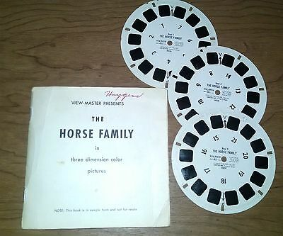 Viewmaster Book and Reels The Horse Family Hard to Find