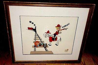 Jay Ward Cel Dudley Do-Right NELL ON THE TRACKS Rare Animation Art Edition cell