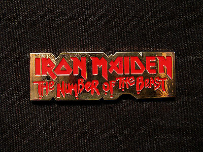 "Iron Maiden Official 1989 Vintage Metal Pin Uk Import  ""the Number Of The Beast"""
