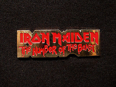 """Iron Maiden Official 1989 Vintage Metal Pin Uk Import  """"the Number Of The Beast"""""""