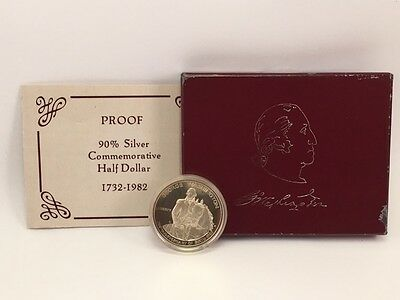 1982 Proof George Washington Commemorative Silver Half Dollar 90% Silver