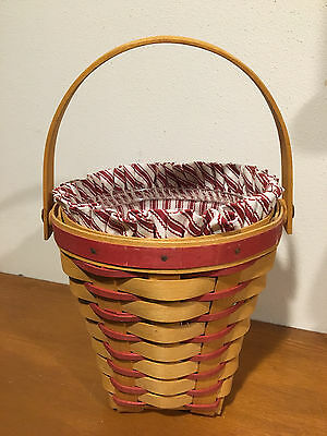 Longaberger 1996 Sweetheart Collection Bouquet Basket w/ Liner & Protector