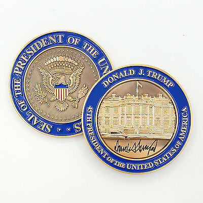 Trump Coin US President (45th) Donald J. Trump White House POTUS Challenge Coin
