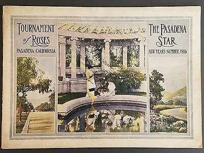 1916 Pasedena Star TOURNAMENT OF ROSES PARADE BOOKLET