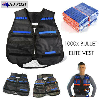 Kids Childrens Elite Tactical Vest for Nerf Gun N-strike Elite Series Team【AU】