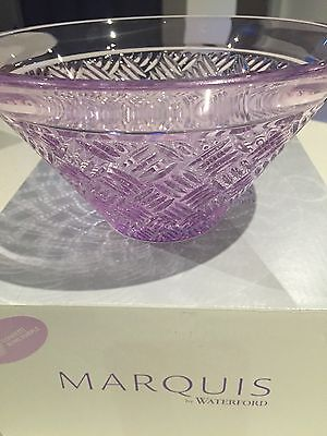 "Marquis By Waterford Crystal Bowl 20cm / 8"" Confetti PURPLE  BNIB RRP $99.95"