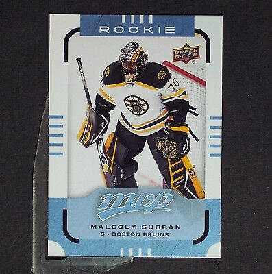 MALCOLM SUBBAN  RC  2015/16 MVP #180  Boston Bruins  Rookie