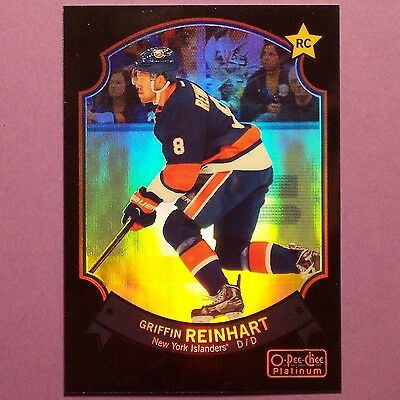 GRIFFIN REINHART RC 2014-15 OPeeChee Platinum Retro Rainbow Black #81 NYI Rookie