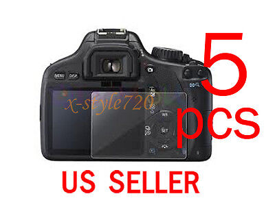 5pcs Clear LCD Screen Protector Guard Film For Canon EOS 550D REBEL T2i
