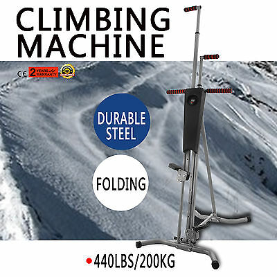 LCD Gym Climber Stepper Climbing Machine Steel Cardio Workout Sports WHOLESALE