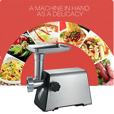 New Electric Meat Grinder Stainless Steel Food Mincer Maker Sausage Kitchen Tool