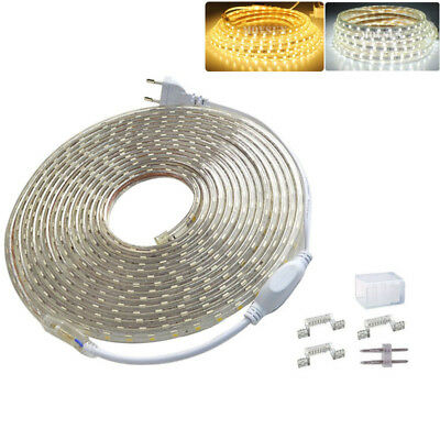 1M~20M 5050 60leds/M Warm/Cool White/RGB Waterproof LED Strip Rope Light AC220V