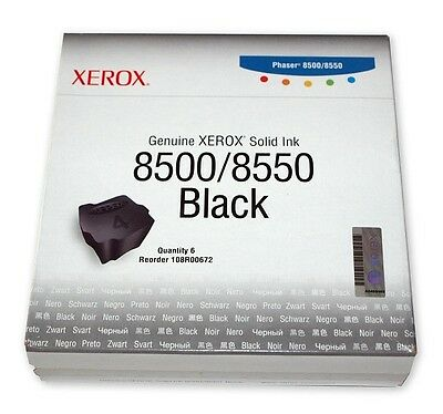 ORIGINALE Xerox COLORSTIX PHASER 8500/8550 NERO(6N) 108R00672