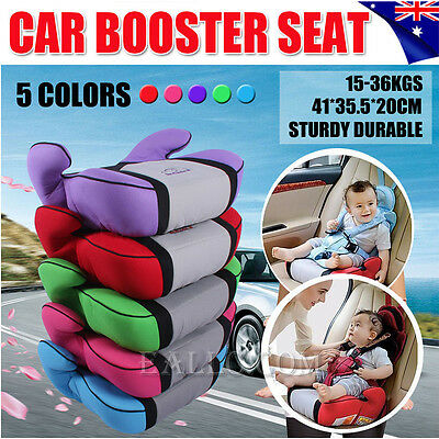 Car Booster Seat Safe Safety Sturdy Baby Kid Children Fit 3 To 12 Years 15-36kg
