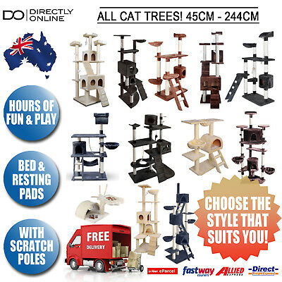 Cat Tree Scratching Post Tower Gym Pet Bed Furniture All Colours All Sizes New