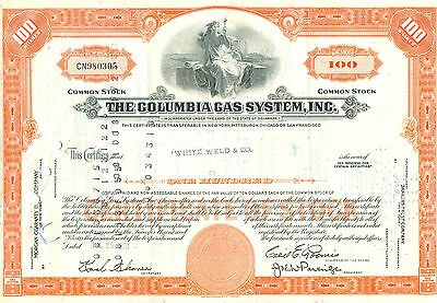 The Columbia Gas Systems, Inc. 1970 - Seltenes HWP aus den USA
