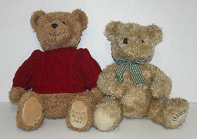 Pair of Large Collectable FRASER BEARS 1997 & 2004 - House of Fraser - 15""