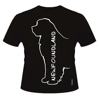 Newfoundland Dog Breed T-Shirts, Round-Neck Style with Dogeria Breed Design