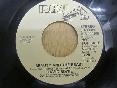 "David Bowie Beauty And The Beast Us Mono / Stereo Promo 7"" Near Mint"