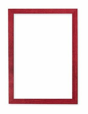 Confetti Wood Frame Range 20 mm Picture Frame Photo Frame Poster Frame Red A4