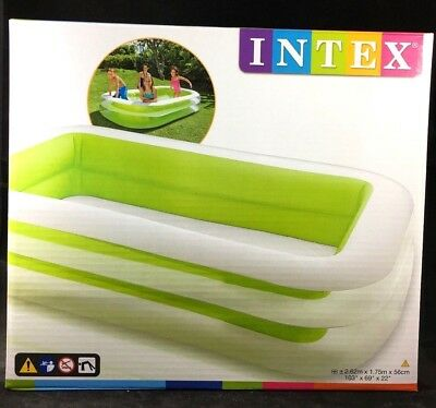 INTEX Family POOL Swimmingpool Kinderpool PLANSCHBECKEN 262 x 175 x 56 cm NEU