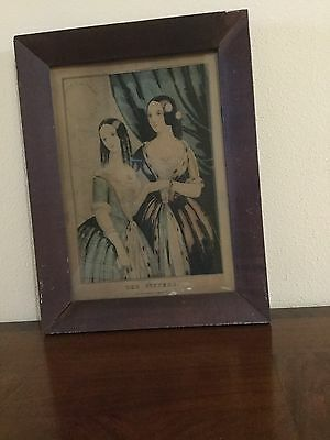 "Lithograph By N. Currier ""the Sisters"""
