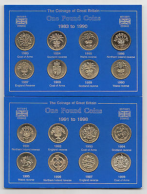 UK Brilliant Uncirculated One Pound £1 Coin 1983 to 1999 - Choose your year