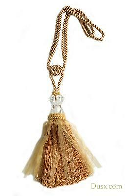 DUSX Gold Tassel Curtain Tie Back  with Crystal - Pair