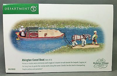 Dept 56 The Dickens' Village Series ~ Abington Canal Boat (56.58522)  **MINT**
