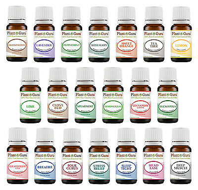 Essential Oil Set 20 - 10ml. Sampler Kit 100% Pure Therapeutic Grade Bulk Lot