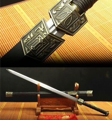 "42"" Rose Wood Saya 1060 Carbon Steel Two Slot Sharp Chinese Sword 天罡剑"