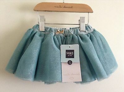 M&s Marie Chantal, Baby Girls Net Skirt, Bnwt, Age 3-6 Months,teal