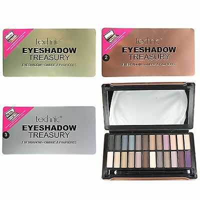 Technic Treasury Eyeshadow Palette 24 Rose Gold Silver Glitter Matte Eyes