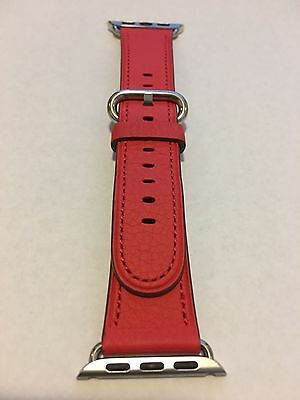 Genuine Apple  Watch Band -  38mm Red Classic Buckle - MMAH2AM/A