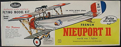 "Guillows 203 - FRENCH NIEUPORT II - 24"" - Balsa Holz Flugzeug Bausatz - Kit"