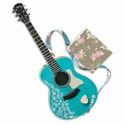 American Girl Tenney Grant Doll Accessories Guitar ,Strap ,Pick Notebook NEW