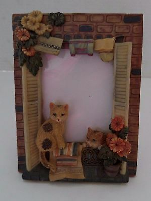 Cat Photo Frame 3D Holds Overall size 6.75 x 5.25; holds 3x 5 Photo