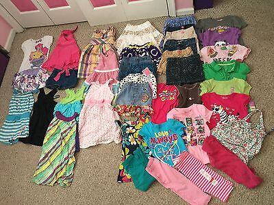 Huge Lot Of Girls Summer Clothes-size 4t/4