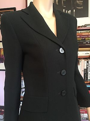 Vintage PARADISO Military Green 2 Piece Suit 3 Button Jacket Short Mini Skirt  2