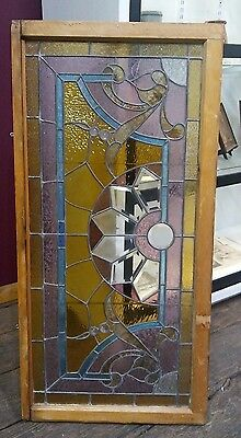 c.1880's Antique Old Leaded Stained Glass Window