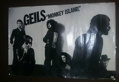 J. Geils Band Monkey Island Autographed Poster Signed By Whole Band AUTHENTIC!!!