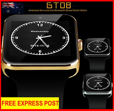 2017 GT08 Bluetooth Smart Watch Sim Card  Phone mate For iphone Android IOS HTC