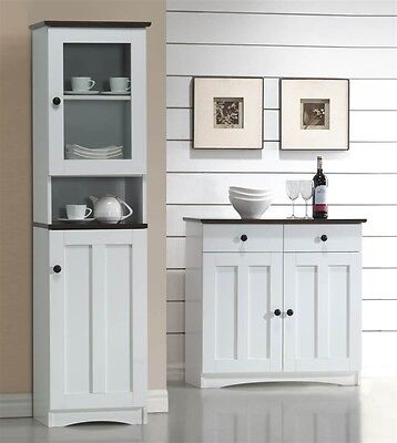Baxton Studio Lauren Modern And Contemporary Two-tone White And Dark Brown With