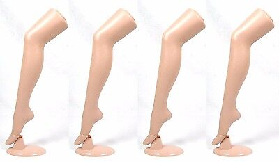 "Standing Female Mannequin Leg Sock and Hosiery Display Foot 30"" Tall -4 Pack"